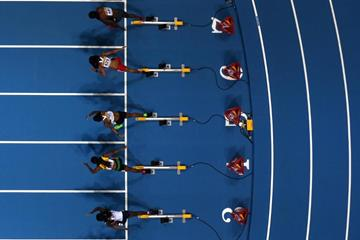 The women's 60m final at the 2014 IAAF World Indoor Championships in Sopot (Getty Images)