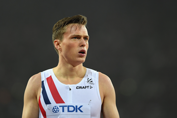 Karsten Warholm at the IAAF World Championships (Getty Images)