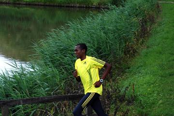 William Biwott at his temporary training base in Hulst, The Netherlands (Michel Boeting)