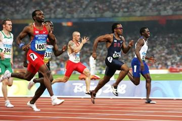 Churandy Martina, Walter Dix, Brian Dzingai and Christian Malcolm take the top four spots in the 200m semi final (Getty Images)