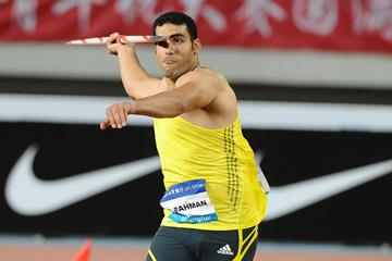 Ihab Abdelrahman El Sayed at the 2014 IAAF Diamond League meeting in Shanghai (Errol Anderson)