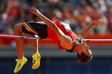 Thomas van der Plaetsen in the decathlon high jump at the European Championships (Getty Images)