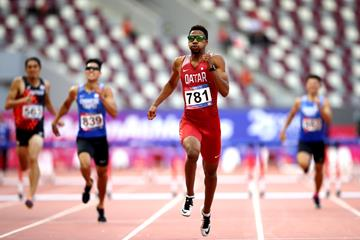 Abderrahman Samba at the Asian Championships in Doha (Getty Images)