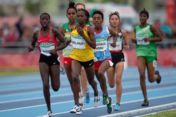 Mercy Chepkorir of Kenya and Uganda's Sarah Chelangat in the Women's 3000m (Joe Toth for OIS/IOC)