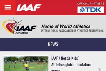 IAAF mobile website ()
