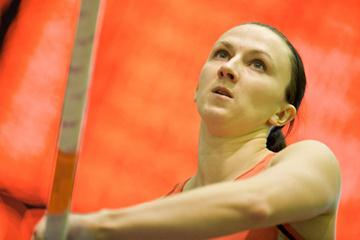 Monika Pyrek at the 2008 Polish Indoor Championships (Adam Nurkiewicz/Mediasport)