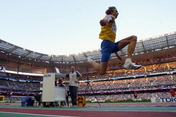 Christian Olsson of Sweden means the triple jump (Getty Images)