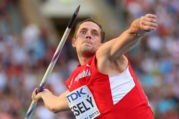 Vitezslav Vesely in the mens Javelin Throw Final at the IAAF World Athletics Championships Moscow 2013 (Getty Images)