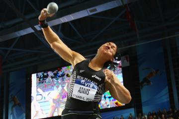 Valerie Adams, winner of the shot put at at the 2012 IAAF World Indoor Championships in Istanbul (Getty Images)