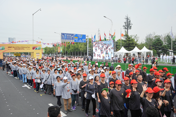 The mass event at the 2014 IAAF World Race Walking Team Championships in Taicang (LOC)