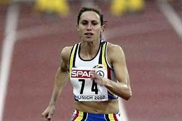 Kim Gevaert at the 2002 European Championships (Getty Images)