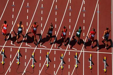 The start of a 100m race (Getty Images)