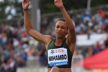 Malaika Mihambo takes a big win in Lausanne (Gladys Chai von der Laage)