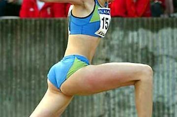 Ukraine's Tatyana Dyachenko, 19, the World Junior champion, wins European U20 Triple Jump title in Kaunas (Mark Shearman)