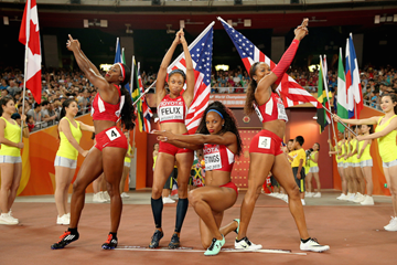 Women's 4x400m relay in Beijing ()