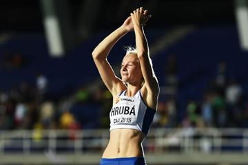 Michaela Hruba at the IAAF World Youth Championships, Cali 2015 . (Getty Images)
