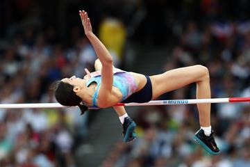 Mariya Lasitskene jumping to victory at the IAAF World Championships London 2017 (Getty Images)