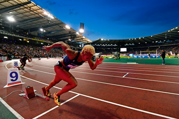 The start of the women's 400m at the IAAF Diamond League meeting in Zurich (AFP / Getty Images)