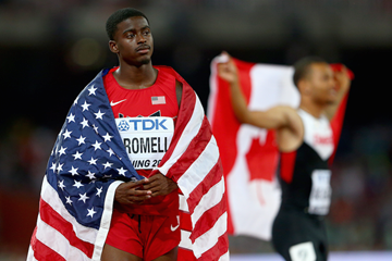 Trayvon Bromell after taking World Championship bronze ()