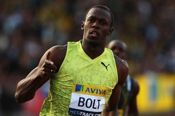 Another solid dash - 9.91 against a 1.7 m/s wind for Usain Bolt in London (Getty Images)