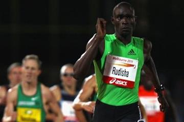David Rudisha on his way to victory at the 2011 Melbourne Track Classic (Getty Images)
