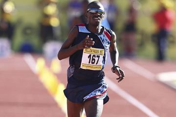 Stephen Mokoka on his way to victory at the South African Championships (Roger Sedres - Image SA)