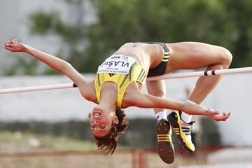 Blanka Vlasic sails over 2.04 at a meeting at her hometown of Split (Vladimir Dugandzic)