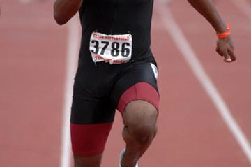Collegiate sprint standout Walter Dix at the Texas Relays (Kirby Lee)