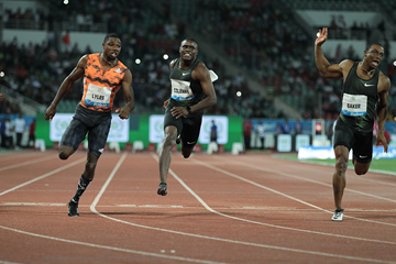 Christian Coleman wins the 100m at the IAAF Diamond League meeting in Rabat (Jean-Pierre Durand)