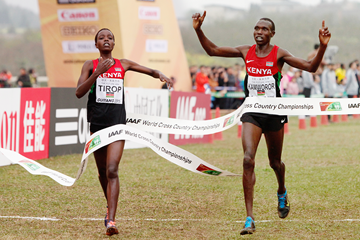Agnes Tirop and Geoffrey Kamworor (Getty Images)