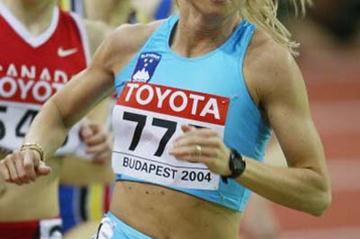 Jolanda Ceplak of Slovenia in action in the 800m heats (Getty Images)