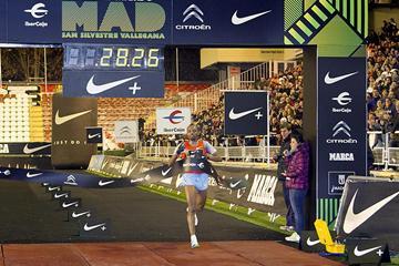 Ethiopia's Tariku Bekele wins at the 2012 San Silvestre Vallecana in Madrid (Organisers)