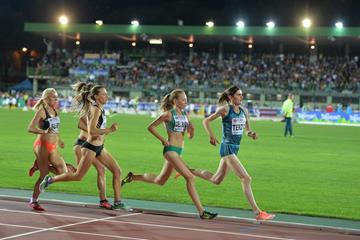 Federica del Buono (second from right) in the 1500m in Rovereto (Daniel Mosna)