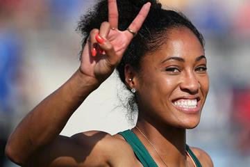 US sprint hurdler Queen Harrison (Getty Images)