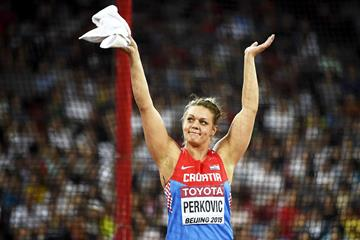 Sandra Perkovic in the discus at the IAAF World Championships, Beijing 2015 (Getty Images)