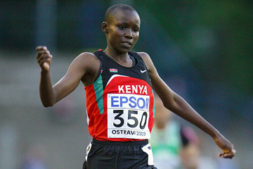 Mercy Cherono of Kenya wins the 3000m at the 2007 IAAF World Youth Championships in Ostrava (Getty Images)