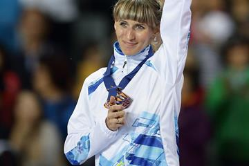 Margarita Mukasheva after winning the Asian Games 800m title (Getty Images)