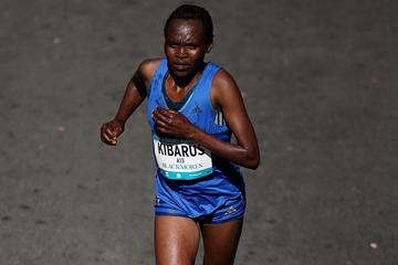 Mercy Kibarus on her way to winning the Sydney Marathon (Getty Images)