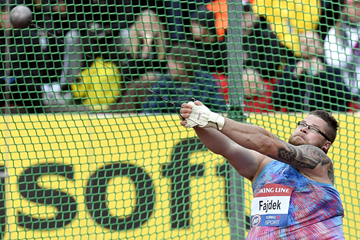 Pawel Fajdek in the hammer at the IAAF Hammer Throw Challenge meeting in Turku (AFP / Getty Images)