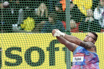 Pawel Fajdek in the hammer at the IAAF Hammer Throw Challenge meeting in Turku (AFP / Getty Images)