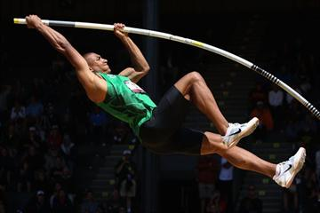 Ashton Eaton en route to his 8729 national title in Eugene (Getty Images)