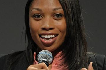 Allyson Felix at the USC Conference on Sports (Kirby Lee)