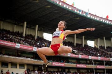 Gong Luying in the long jump at the IAAF World U18 Championships Nairobi 2017 (Getty Images)