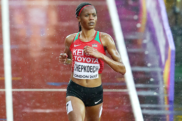Kenya's Beatrice Chepkoech in the steeplechase at the IAAF World Championships London 2017 (Getty Images)