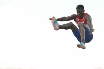Maykel Masso in the long jump at the IAAF World U20 Championships Bydgoszcz 2016 (Getty Images)