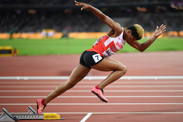Salwa Eid Naser in the 400m at the IAAF World Championships London 2017 (Getty Images)