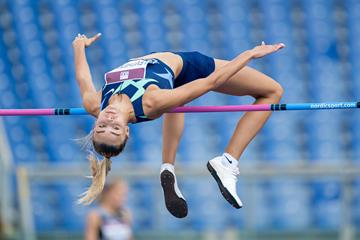 Yuliya Levchenko, winner of the high jump at the Wanda Diamond League meeting in Rome (Chris Cooper)