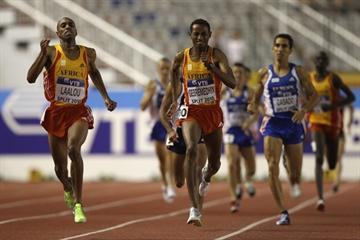 Amine Laalou of Morocco wins the 1500m for Team Africa in Split (Getty Images)