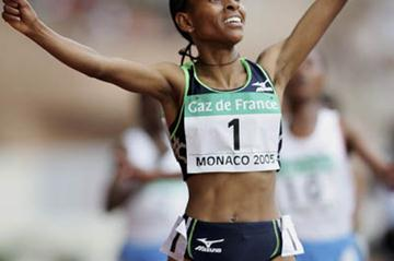 Meseret Defar celebrates her winning double at the World Athletics Final (Getty Images)
