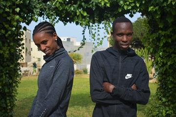 Hiwot Ayalew and Bernard Ngeno in Safi (Organisers)